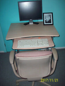 Computer station and chair