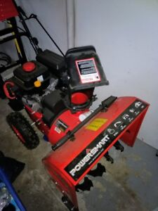 2 year old snow blower used twice, in mint condition