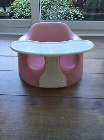 Bumbo Combo Seat and Tray in Baby Pink