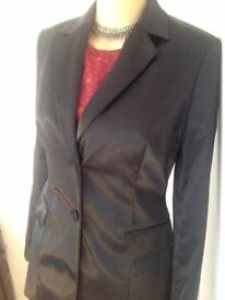 Gorgeous NEW M&S black satin jacket 8,10,12,14&16 RRP £125