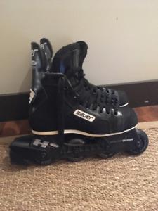 patins à roues alignées, marque bauer, excellent état.