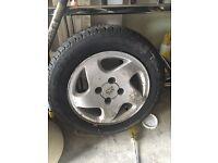 Peugeot alloy wheel & tyre (good tred)