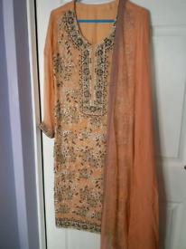Peach asian dress