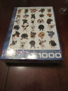 Brand new - 1000 piece puzzle Eurographics DOGS (puppies)
