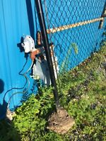 Around 35ft of chain link fence black