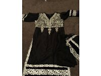 Black and purple shalwar kameez size 16