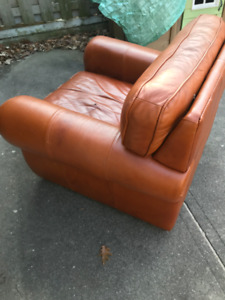 Free Leather Club Chair