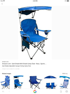 Out door canopy chair