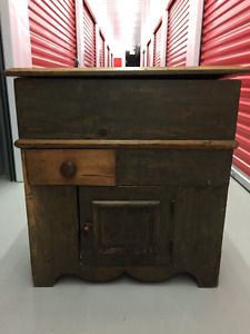 Nice Pine Cabinet with Hinged Top