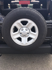 Wrangler goodyear tires and rims for sale