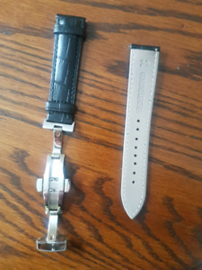 20mm leather watch band,mens