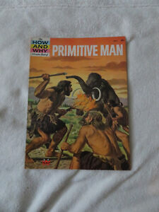 vintage 1961  HOW AND WHY WONDER BOOK OF PRIMITIVE MAN