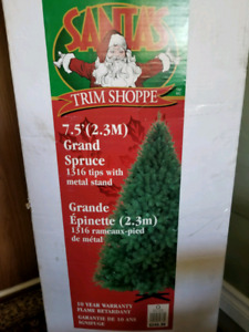 Santas Trim Shoppe 7.5 Foot Christmas tree.