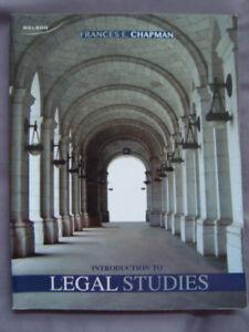 Introduction To Legal Studies Frances Chapman