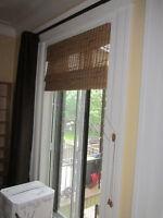 2 Stores en Bamboo (Marque Levolor) / 2 Bamboo Window Shades