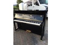 Winchester black polyester upright piano |Belfast Pianos |