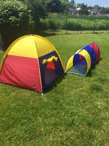 Play tent and Tube Entrance