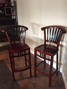2 used bar stools