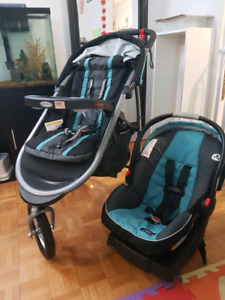 Baby car seat and stroller Graco click connect