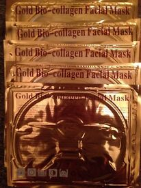 5 gold and collagen face masks