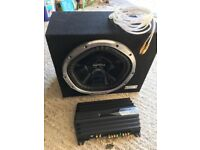 "Sony 12"" sub and Sony 350 watt amp"