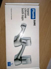 Plumbsure Topaz Chrome Bath Taps