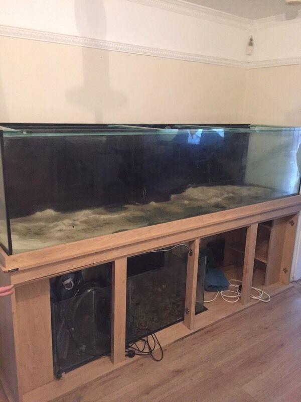 Fish tank 8x2x2 aquarium with sump and cabinet return pump for Fish tank sump pump