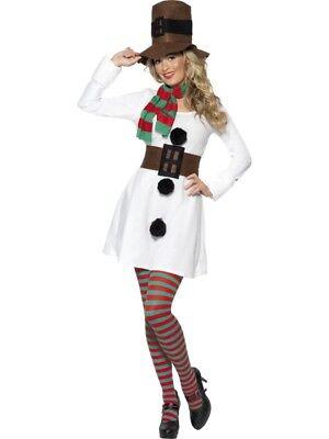 Schneemann Damen Kostüm Schneefrau Weihnachten