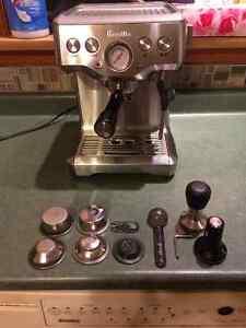 Breville Infuser Espresso Machine (BES840XL) + Rattleware Tamper