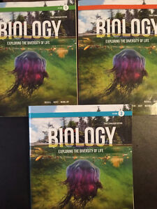 BIOLOGY 1001a/1002b textbooks