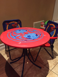 Spider-man Table and Chairs