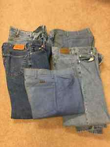 FIVE PAIRS OF MEN'S JEANS -- 34 x 30