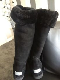 Authentic black UGG boots size 3