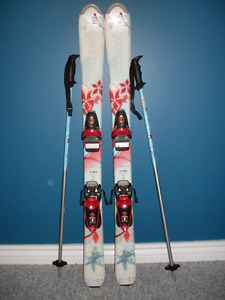110cm Rossignol Skis with Poles