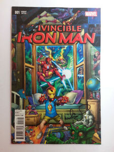 "Invincible Iron Man Marcel Comics Issue 1 ""SIGNED"""