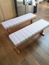 Two breakfast table benches