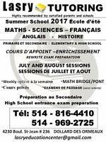 COURS D'ÉTÉ 2017 - PRIMAIRE ET SECONDAIRE