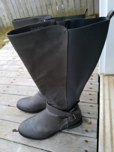 SIZE 11 PENNINGTON WIDE CALF GRAY BOOTS