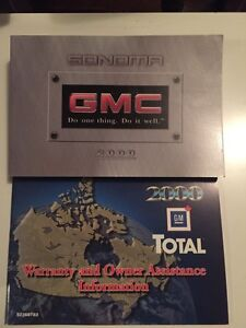 GMC Sonoma owners manual