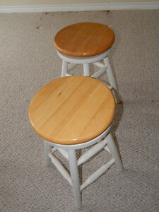 SOLD  Wooden Bar Stools (2)