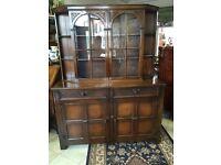 Vintage bookcase dresser tibbenhams of ipswitch