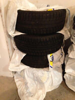 Goodyear X-ice Studless Winter Tires. 205 50R17