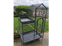 Parrot/bird cage with perch area