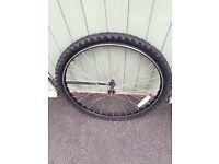 "26"" bike wheel and nearly new tyre."