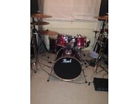 Pearl Vision 5 piece drum kit (shells)