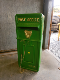 Cast iron green Irish post boxes for wall or pillar