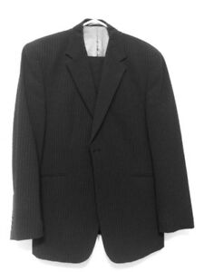 Britches Men's 42R Black Suit with stripes