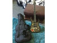 Rockstar guitar, padded case and strap