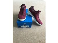 Adidas Stan Smith Maroon Trainers Size UK 10