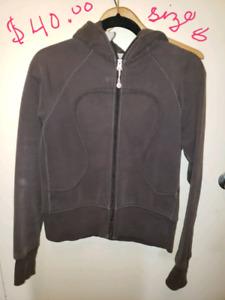 Lululemon sweaters/ jackets sz 8